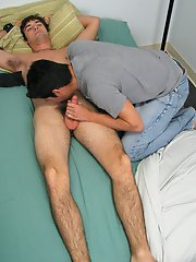 I played with him a bit and then got out my toys and tied him to the bed gay   masturbation