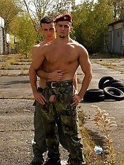After the hunky 'Notable' Eric gets the excellent double sucking, he can't in check his own lust gay military nude men gallery