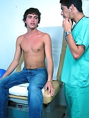 Waiting patiently  the doctor to come, when he did come in he introduced himself right away free amateur naked straigh