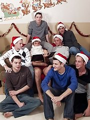 You can hear the multiple moans and squeals of fulfilment gay group sex xxx at Broke College Boys!