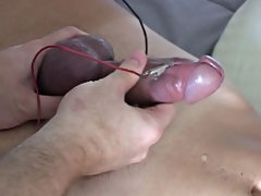 I then began to jerk on that purple pecker slowly, watching as the pre-cum continued to seep lazily without his head, it was really hard not to jerk o