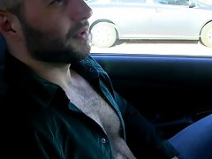 Meanwhile, wanking his rod in his car, David shoots a load clear over his shoulder hardcore gay sex in the office at Bang Me Sugar Daddy
