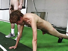 they had their pledges running around naked in football pads doing all sorts of drills and man on man tackling action group male masturbation
