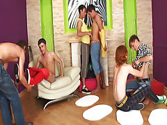 Group gay anal sex and married men masturbation groups at Crazy Party Boys