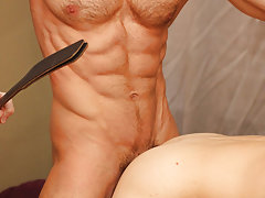 Gay boy anal insertion and spanking male lean nice body at Bang Me Sugar Daddy