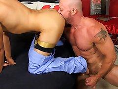 Gay man gets dick sucked by calf and naked young american men at Bang Me Sugar Daddy