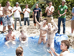as punishment for losing these unfortunate pledges had to suck each their off in front of their brothers and fellow pledges hold him down ass fuckin