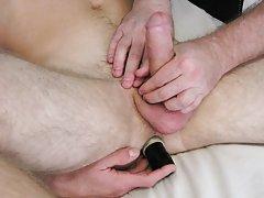 Gay dildo masturbation technique and...
