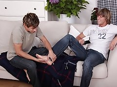 Joey bends Eric over and drives his cock into him first gay porno