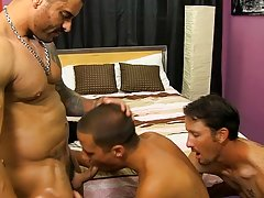 Married studs Alexsander Freitas and Danny Brooks are surprised when Wade Westin turns up to replace the stripper cutie who at no time showed, but the