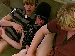 Twinks stroking and ejaculating each other and twink only porn - at Boy Feast!