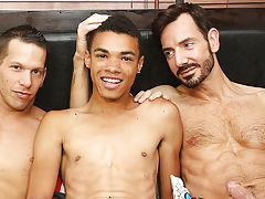 The action starts right away, with the aged boyz teaming up to welcome their young guest in the most good way possible gay army group sex at Bang Me S