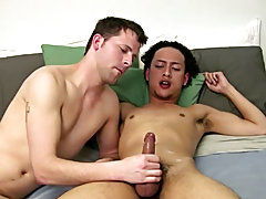 Bo continues to suck on Ramon's cock and work Ramon's ball sack as he does so gay naked guys giving blowjobs