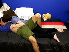 BoyCrush exclusive Kyler Moss takes the Latino twink on in this sexy and raw bareback scene gay teens first sex video