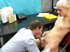 Patrick is bent over the desk with his assistant's shlong buried in his ass my first time sex wit at My Gay Boss