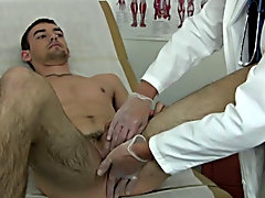 """I figured the next phase of the exam would undoubtedly make him hard. After the """"cough"""" test, I had Kieth lay down on the exam table and I s"""