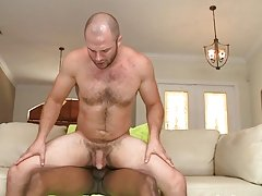 It's a little strange how much this guy likes getting fucked by giant black cock, but we are here to please everyone, so if you like it cum get s
