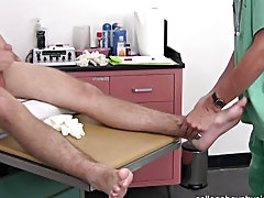 It appears to be his foot was getting more excellent but Justin was jerking off away and ready to cum so I decided to feel his balls and palpate his l