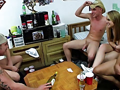 These guys engulf at strip pong so they were marvelous much all nude in no time