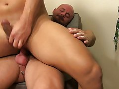 Guy pissing in toilet then fucking a guy and nudist boy the socks kissing at My Gay Boss