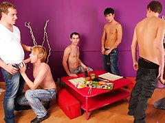 Gay male group sex pictures and group of straight men get horny at Crazy Party Boys