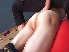 Bari's cock is already drilling in the throat of his customer and that is only the beginning boy first time gay sex at Red Ass Twinks