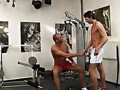 Guard as they rot each other with their hard dumb bells gay sex muscle college guys