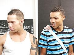 Uncut young gay boy and cute gay black man sucks off black boy friend at Bang Me Sugar Daddy