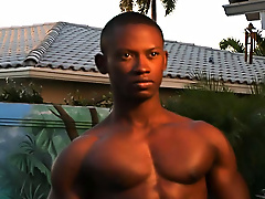 """Hey there honcho, is that a dumbbell in your swimming trunks or are you just happy to see me"" gay black porn"