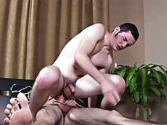 The resident shy boy, Mark, is back in the studio along with large dicked Kevin