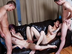 Emo twinks ducking and full free emo boy orgy at Staxus