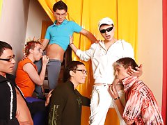 Amature gay group sex and free male...