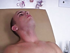 Sitting back on the exam table I relaxed as Nurse Ajay grabbed my shlong and started to suck on it cum eating male
