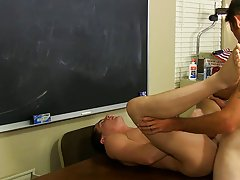 They suck down every other's knobs in advance of Mr. Brooks receives Max bent over a desk his first gay sex jamie at Teach Twinks