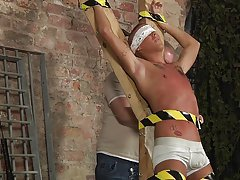 Bondaged naked men having sex and gay male escort bondage sex slave training - Boy Napped!