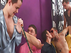 Blue man group whip and gay group sex xxx at Crazy Party Boys