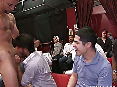 Straight guy swallows come and teacher boy...
