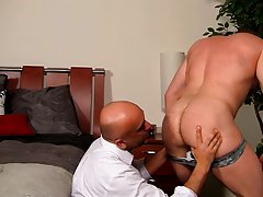 Brown men muscle naked and hairy office man sex cock pic gay at My Gay Boss