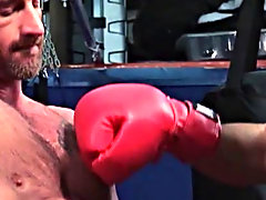 Getting Jean to really open his ass wide, Ross pushes himself further and supplementary, letting them both blast their spunk onto the nearest boxing g