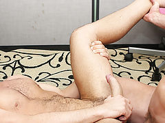 Leather shorts gay porn and mixed boy gets fucked twink at My Gay Boss