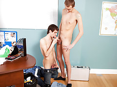 Teen twinks taking a big dick up their ass...