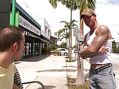 Out In Public is back at it another time and this time we hit the streets looking for a youthful stud so we can take him up on the roof tops of Miami