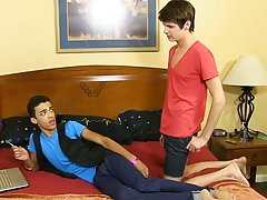 Dustin doesn't seem like a blowjob novice as he sucks down Timo's cock his first gay sex rich