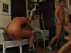 Group male masturbation