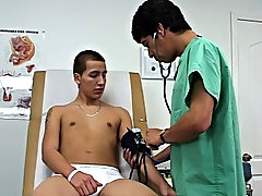 The feeling was also much for Santos and this chab blew his huge moist load all over the exam table an himself