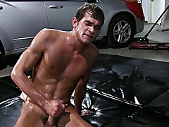 The losers had to fuck every other while the head brother watched gay group cock sucking