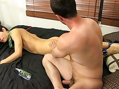 He loosens Giovanni's gap with a glass sex-toy before sinking his schlong into his ass hardcore gay penetration at Bang Me Sugar Daddy