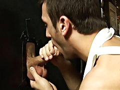 A nice big dick and a bit of gay fun and kink with a glory hole senior gay blowjobs at Backroomfuckers