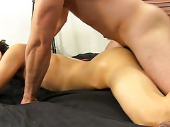 Penis of boy fuck and cute boy with shaved pubes fucked at Bang Me Sugar Daddy