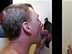 Blowjob for several men and male socks blowjob